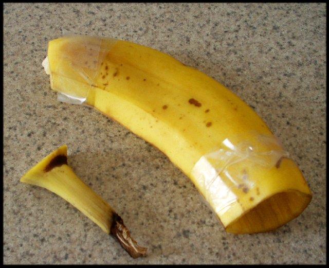 Как сделать пизду из банана 160